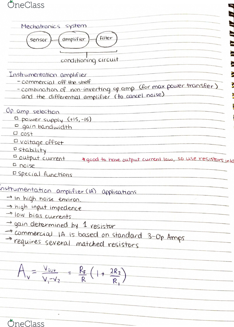 ELG 3336 Lecture 2: ELG 3336 Lecture 2 Summary of op amps