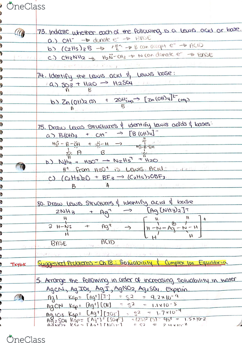CHEM 2030 Chapter 16, 18, 21: Practice Questions for Test 1 - OneClass