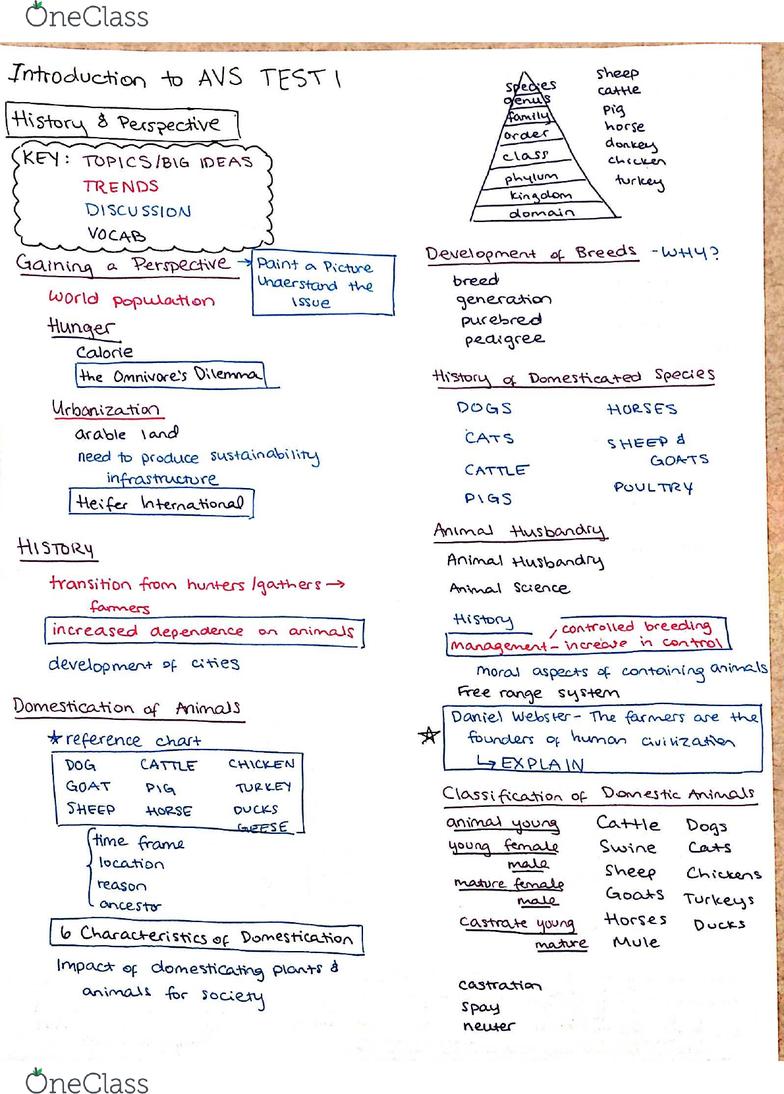 AVS-1500 Study Guide - Fall 2016, Midterm - Wzat, Fanta, Castration