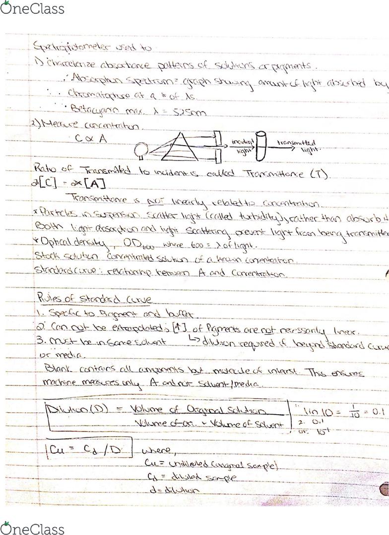 BIOL 107 Final: Biology Lab Exam Preparation  - OneClass