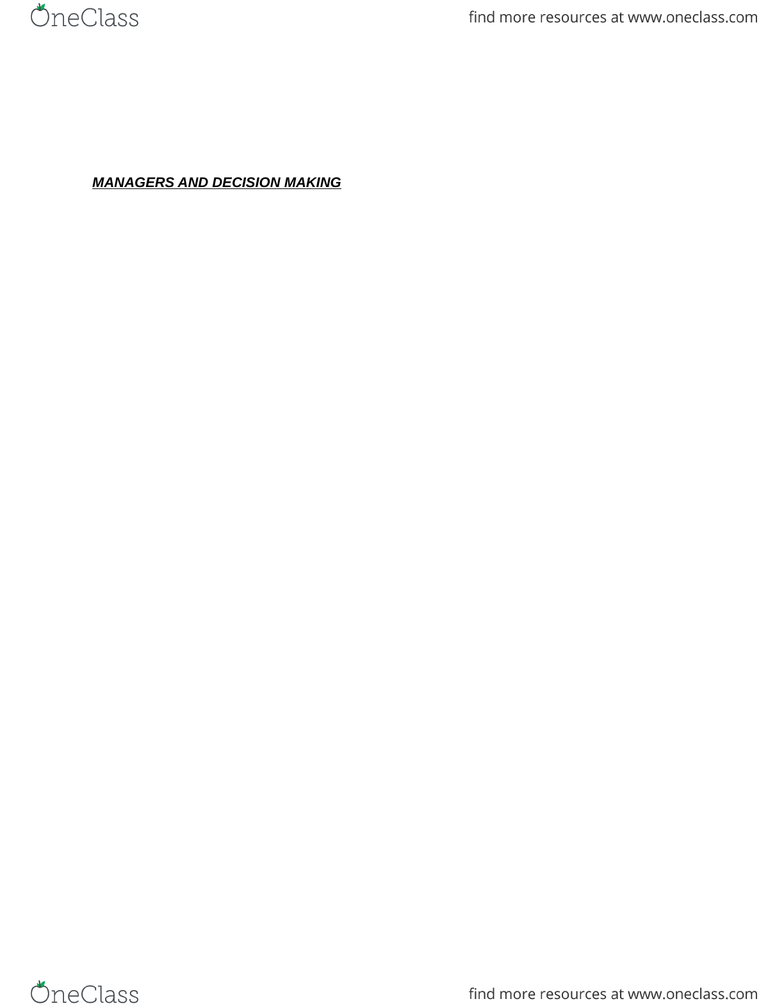 ADMS 2511 Chapter Notes - Chapter 10: Data Mining, Data Visualization, Data  Warehouse