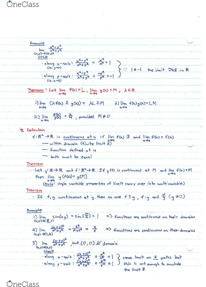 MATB41H3 Lecture 3: Week 3 - Contour graphs, Limits of