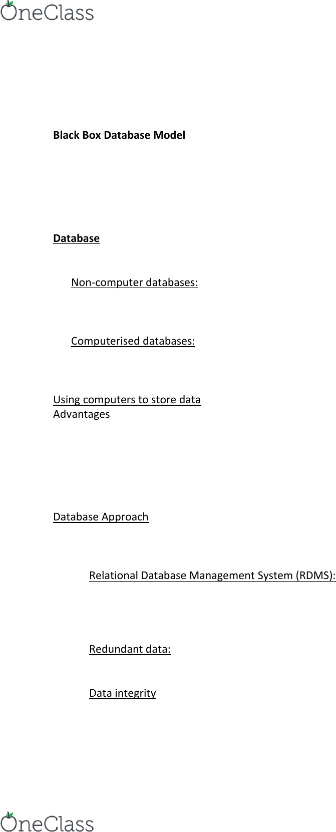 ISYS2056 Lecture Notes - Lecture 8: Relational Database Management System,  Telephone Directory, Database Model