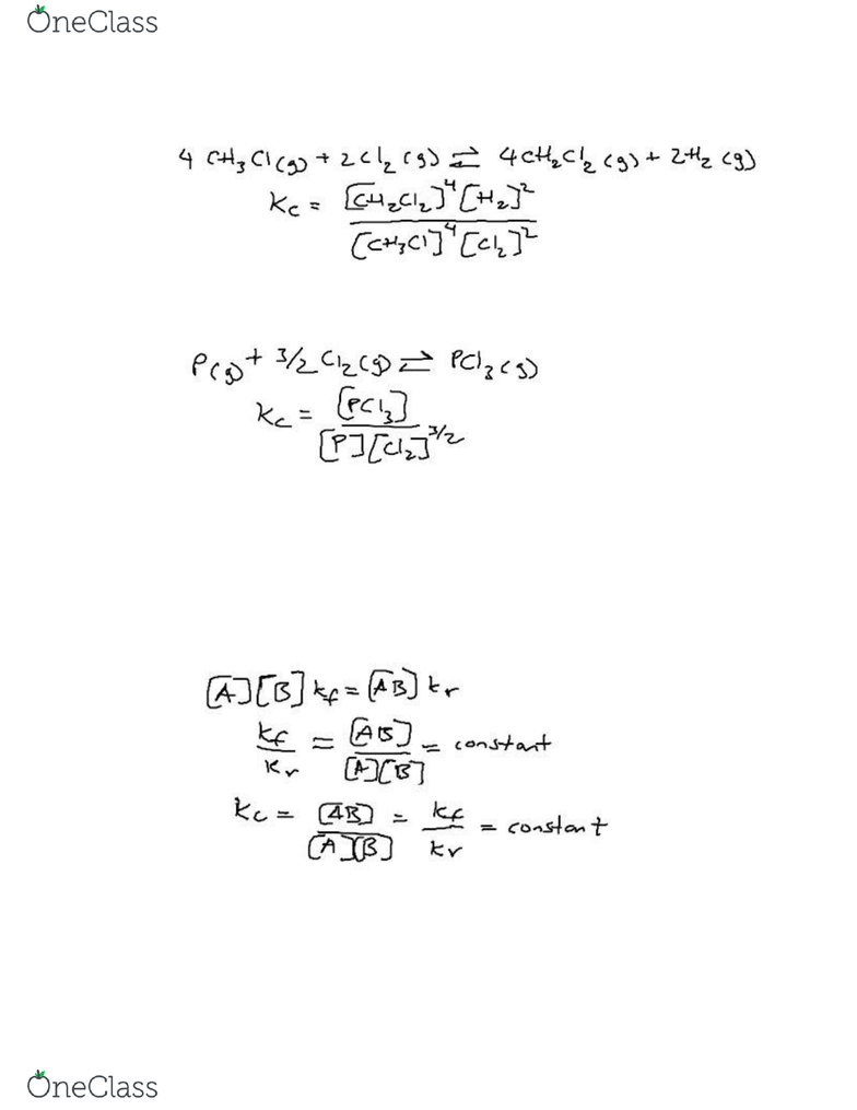 CHEM 1C Lecture Notes - Spring 2018, Lecture 5 - Rate