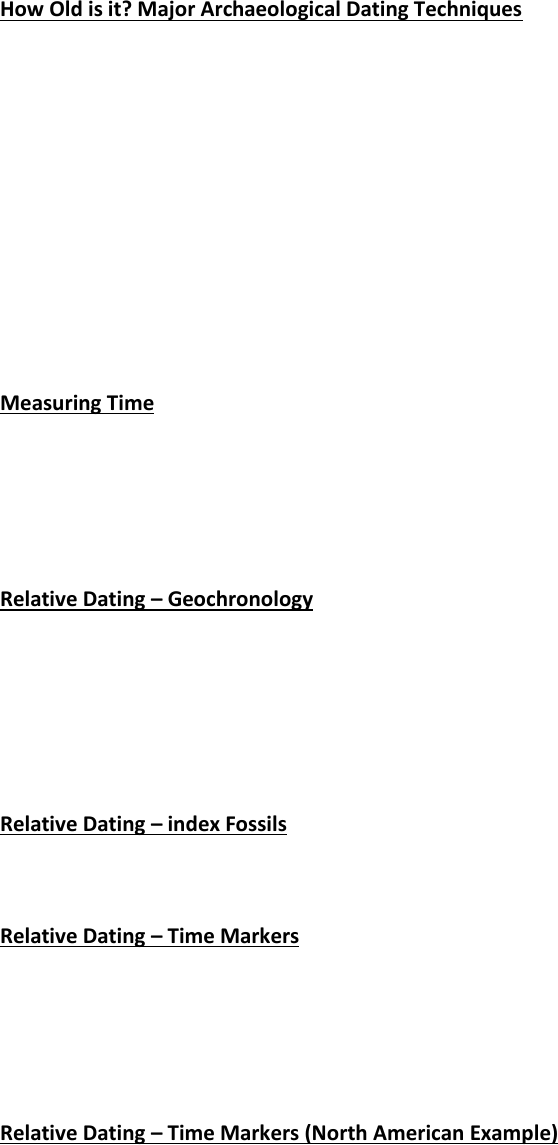 example of relative dating