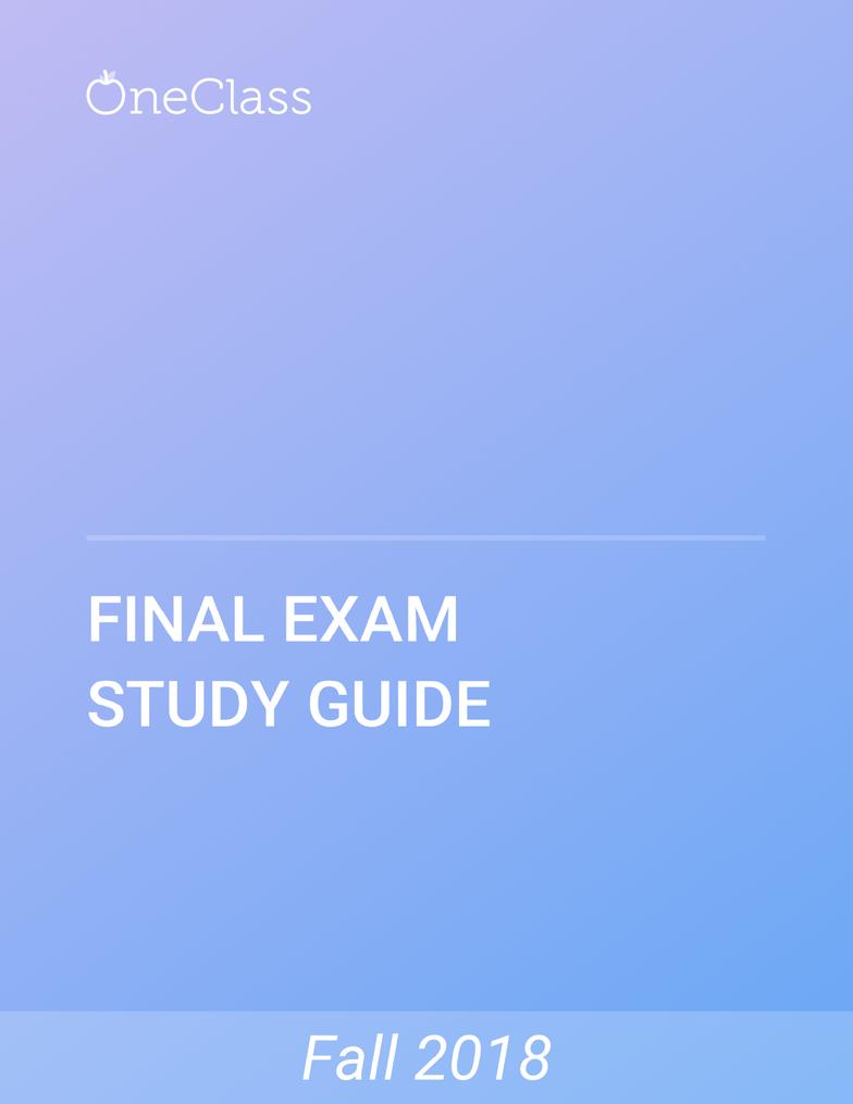 BIOL 2043 Study Guide - Comprehensive Final Exam Guide