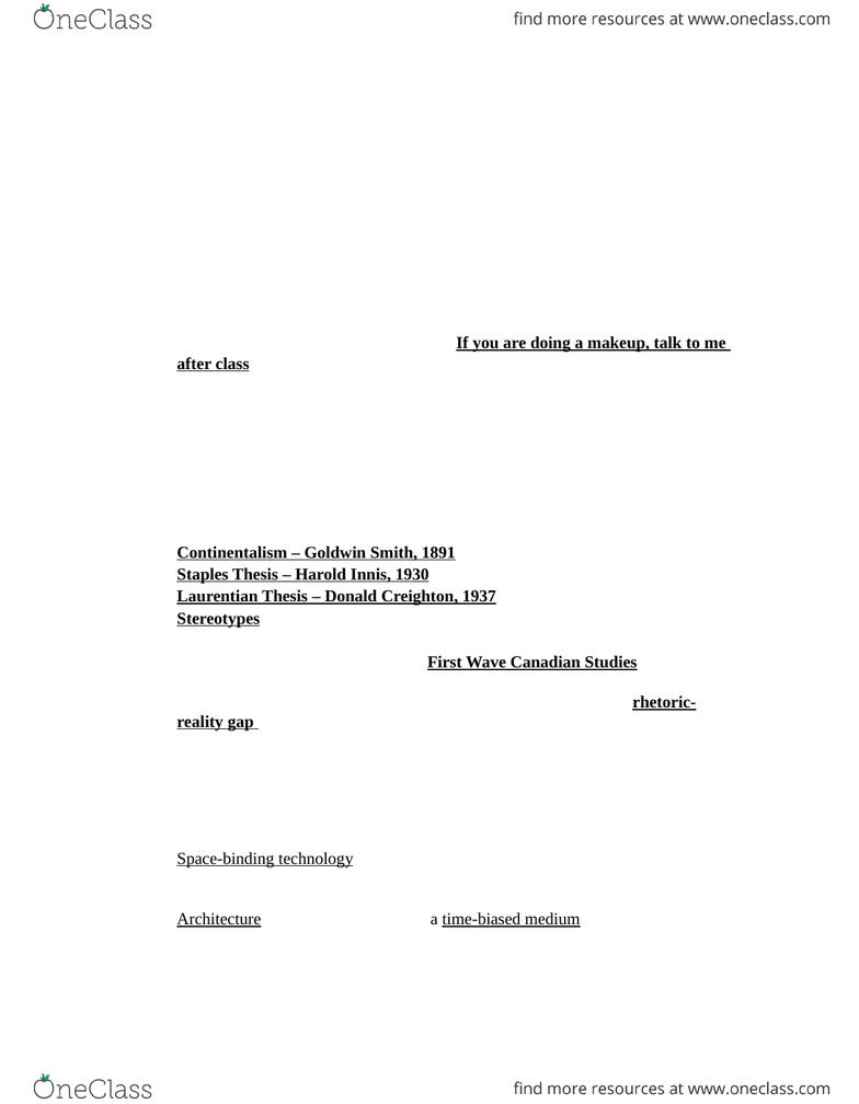laurentian thesis donald creighton