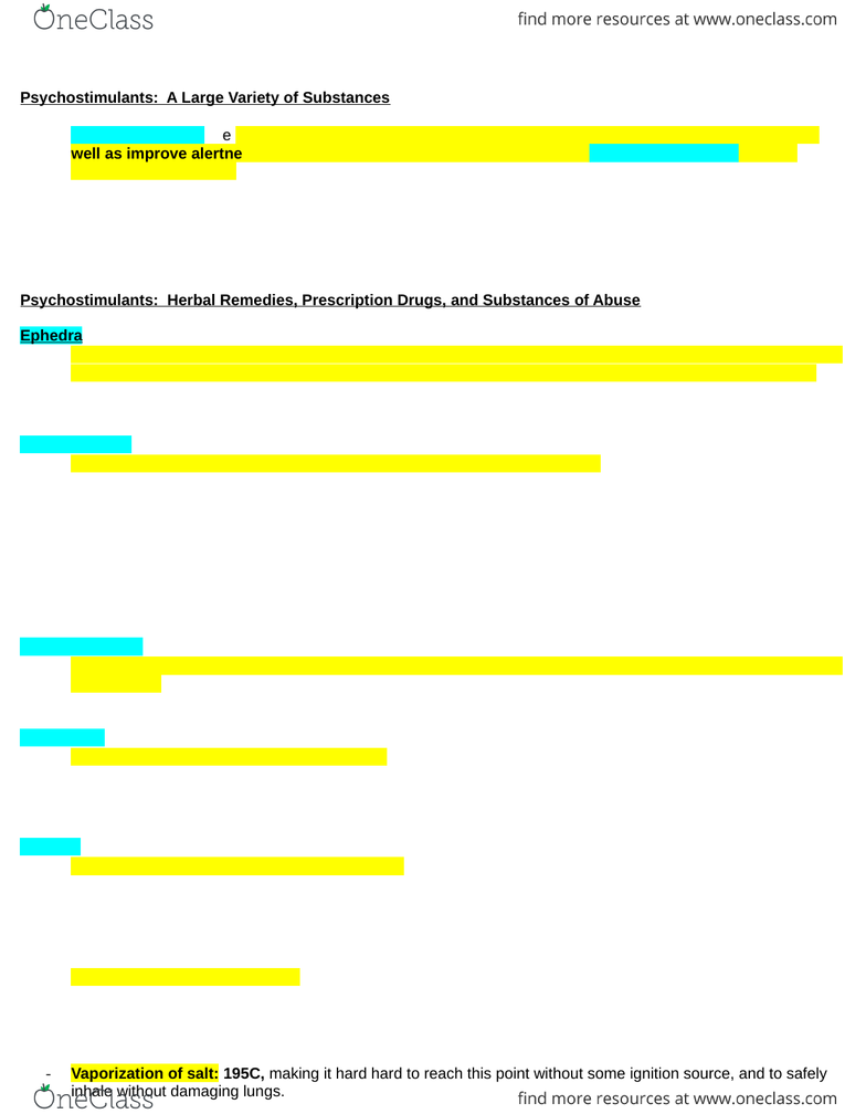 PSYC62H3 Textbook Notes - Winter 2015, Chapter 6 - Dopamine