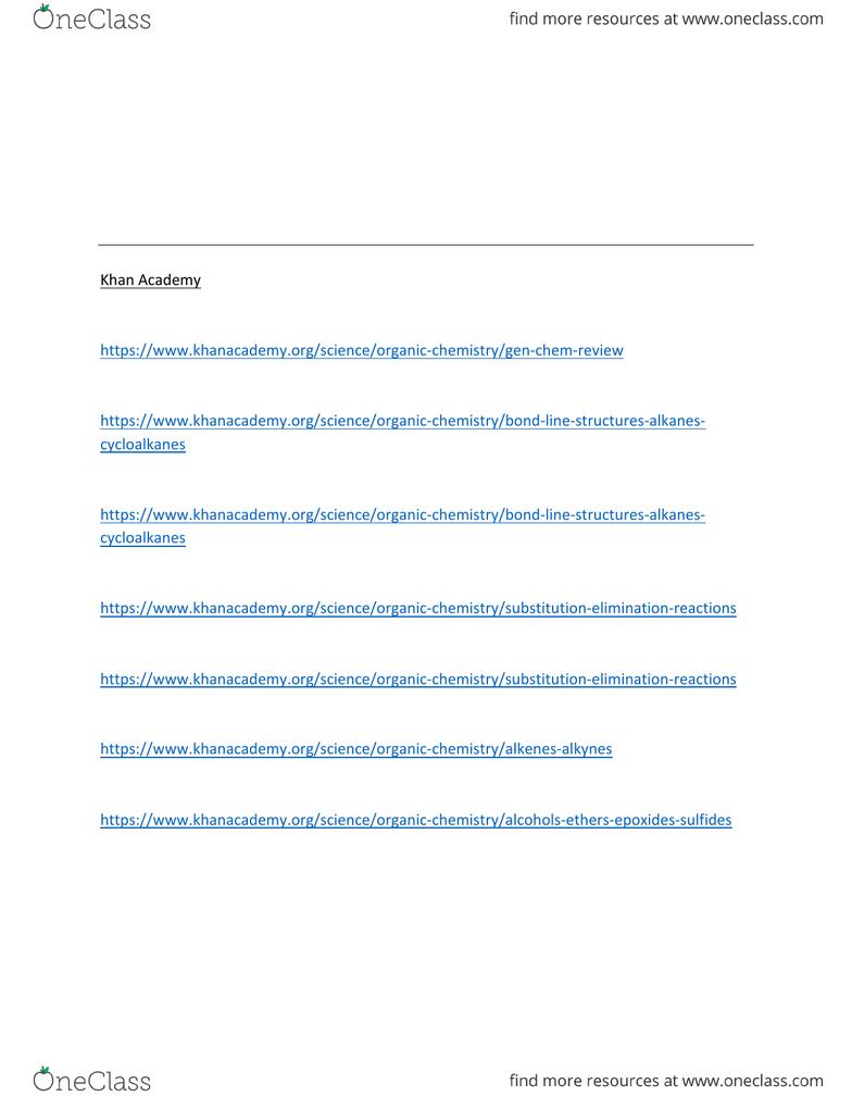 Chem 250 Study Guide Winter 2016 Midterm Enthalpy Khan