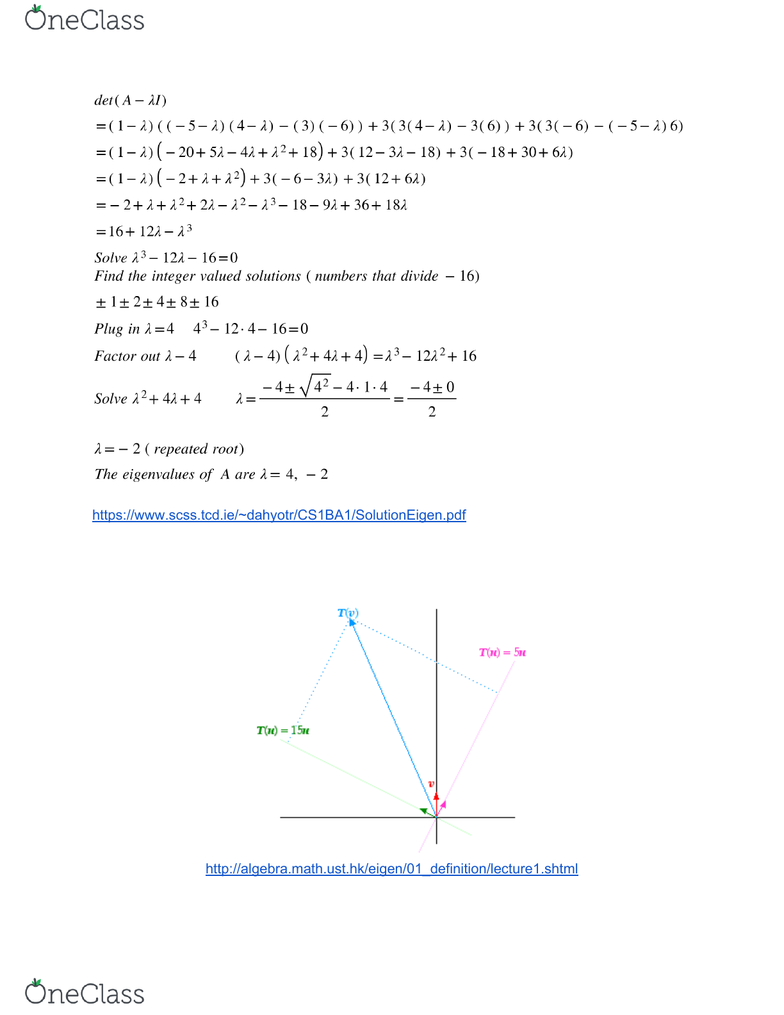 MAT 1302 Lecture Notes - Winter 2019, Lecture 19 - Linear