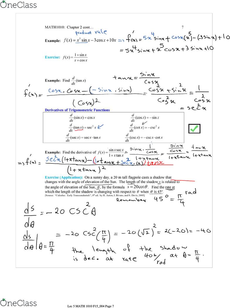 MATH 1010U Lecture 5: Lec 5 MATH 1010 F15_004_filled(correction)
