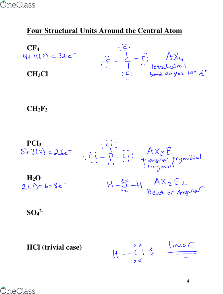 CHEM 1035 Textbook Notes - Spring 2013, - Octet Rule, Lone