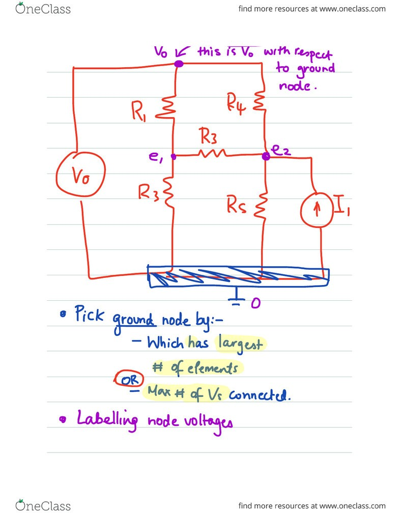 ELEC ENG 2CI5 Lecture 3: Nodal and Mesh Analysis  pdf - OneClass