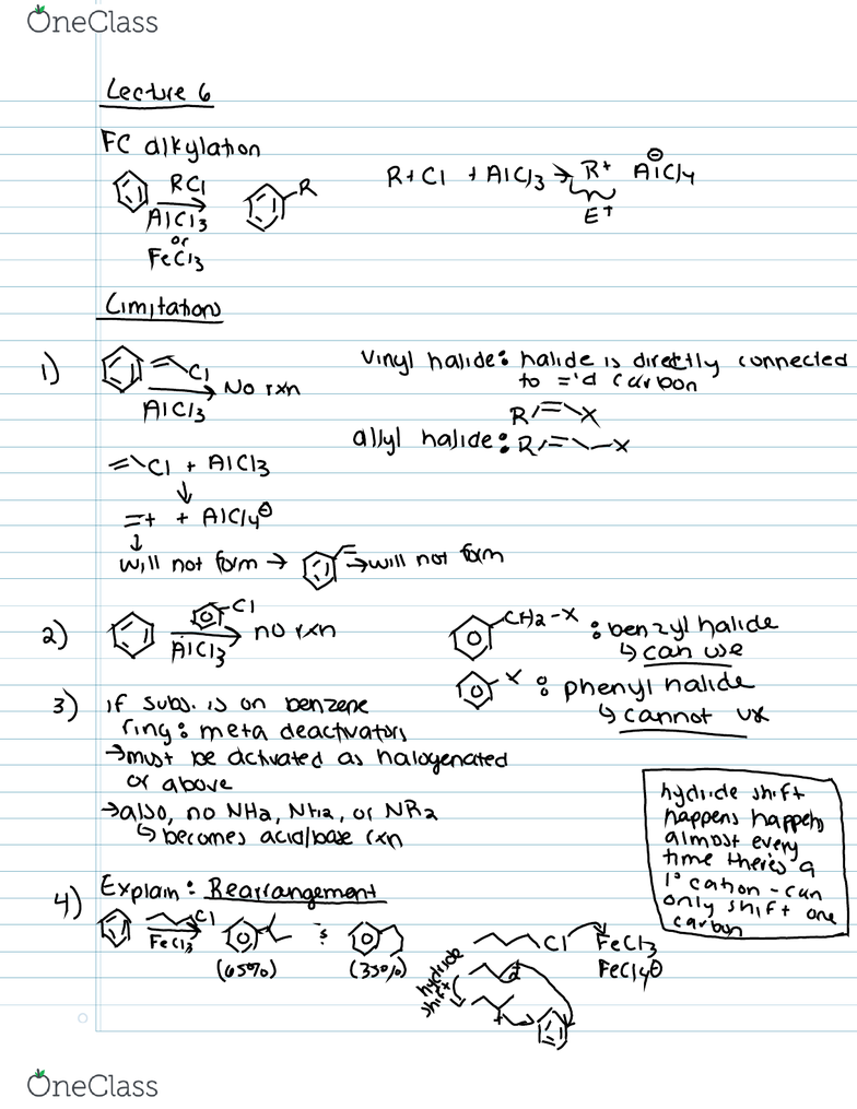 CHEM 262 Lecture Notes - Lecture 6: Susan Boyle, Phenyl Group, Anaplastic  Lymphoma Kinase