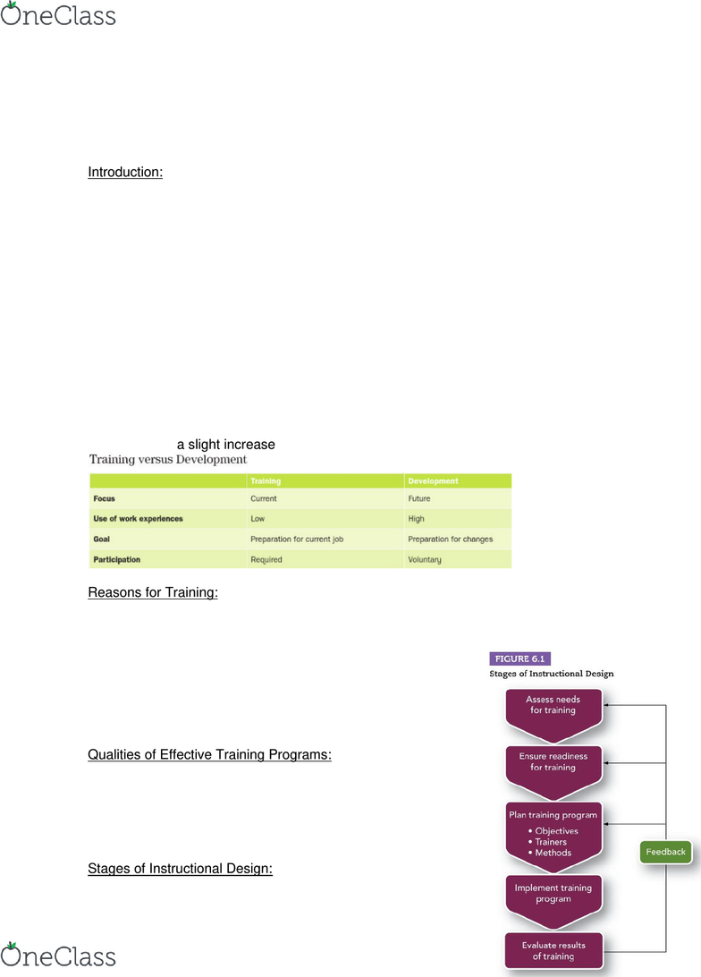 Management And Organizational Studies 1021a B Lecture Notes Fall 2019 Lecture 6 Instructional Design Needs Assessment Task Analysis