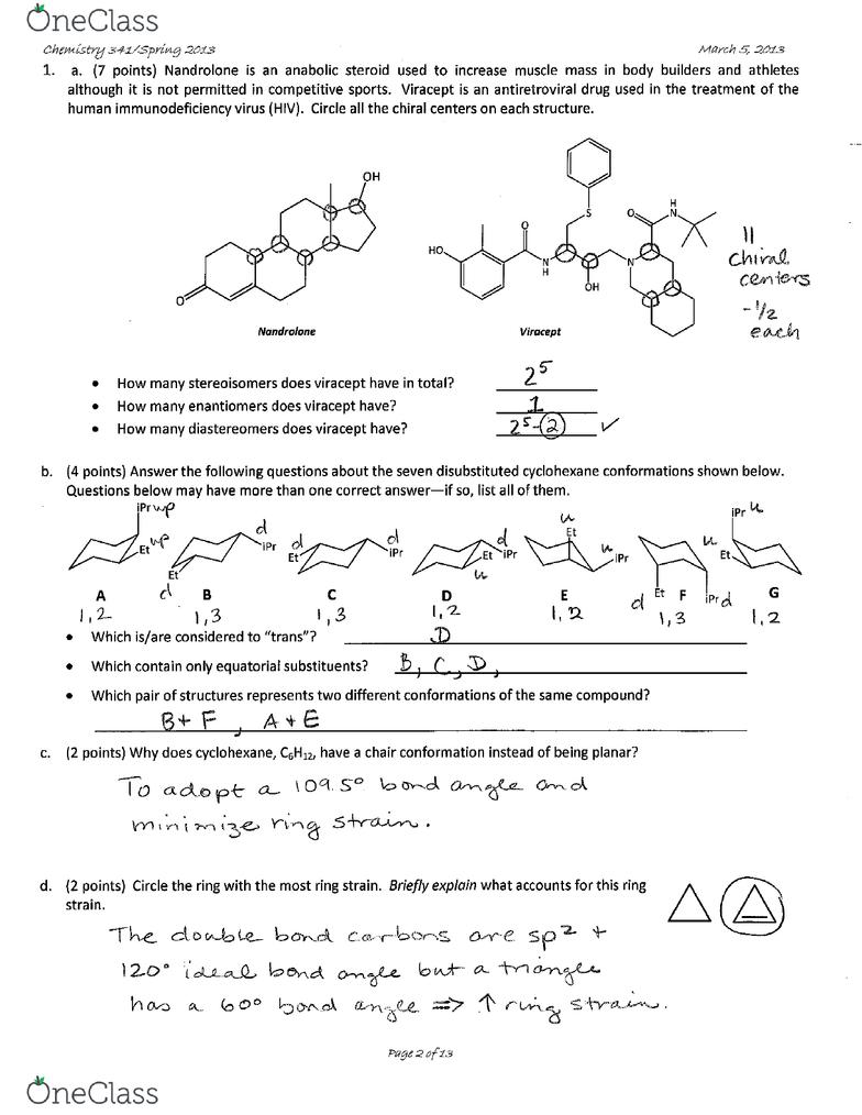 CHEM-C 341 Study Guide - Fall 2018, Midterm - Organochloride