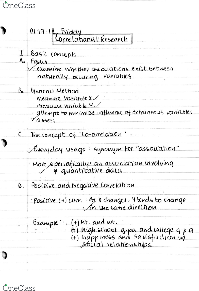 PSYCH 209 Lecture 1: PSYCH 209 notes (ALL LECTURES) - OneClass