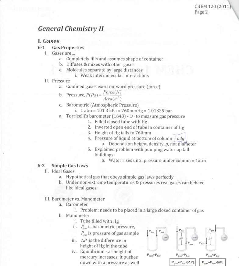 CHEM120 Midterm 1 Study Notes 2011 pdf