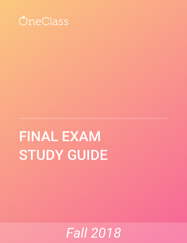 ACC 442 Study Guide - Comprehensive Final Exam Guide - Accounting, Financial  Statement, Internal ControlPremium