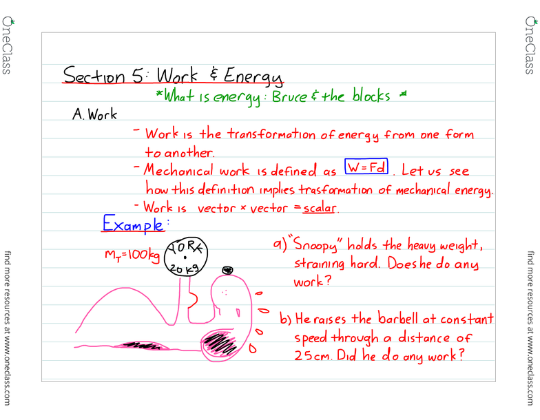 PHYS 124 Lecture 1: Section 5 notes pdf - OneClass