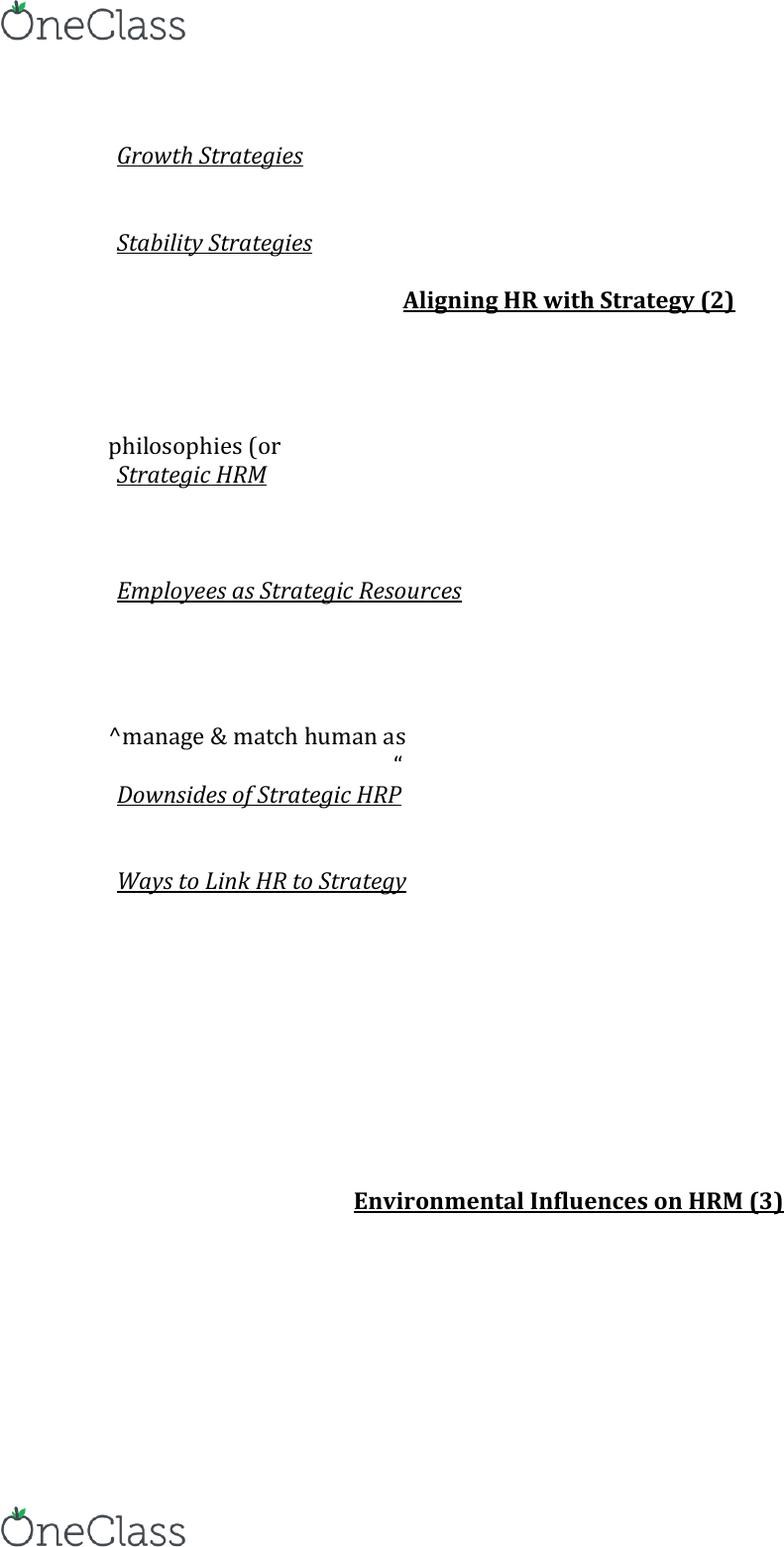 HRM 3430 Midterm: midterm notes HRP 1