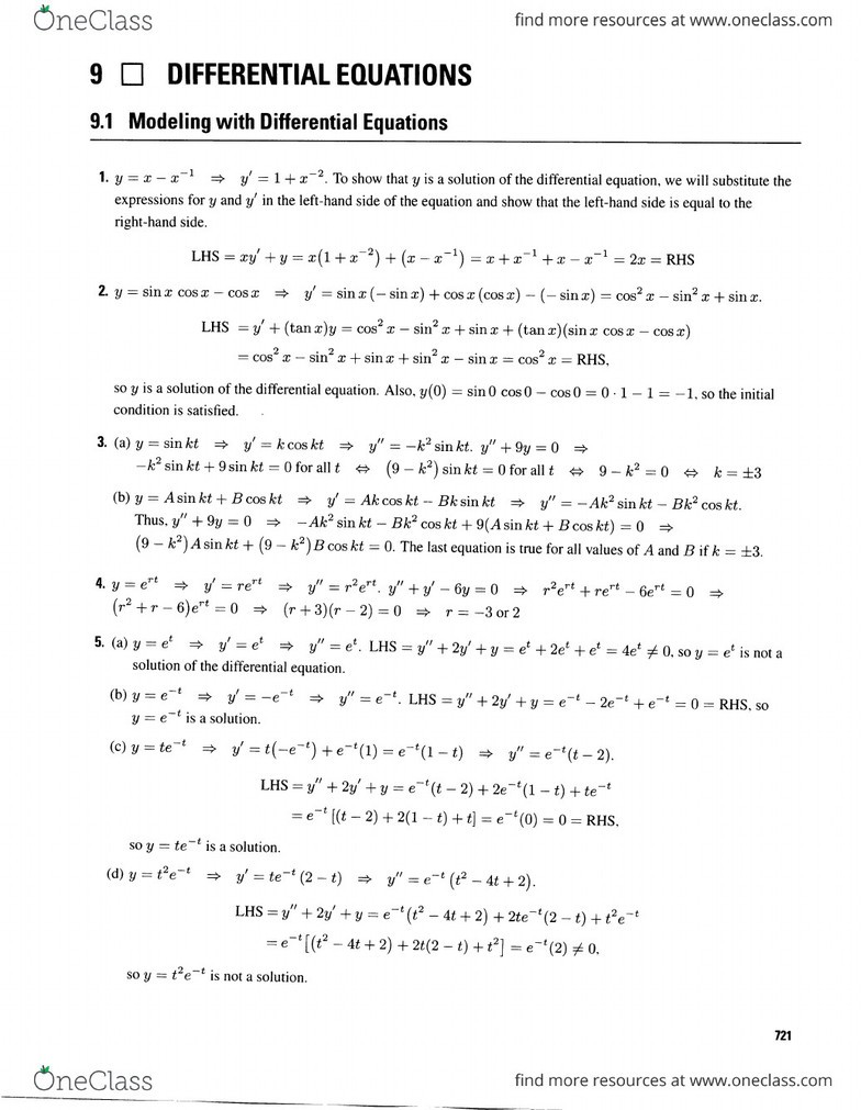 chapter 9 solution manual calculus early transcendentals 7th