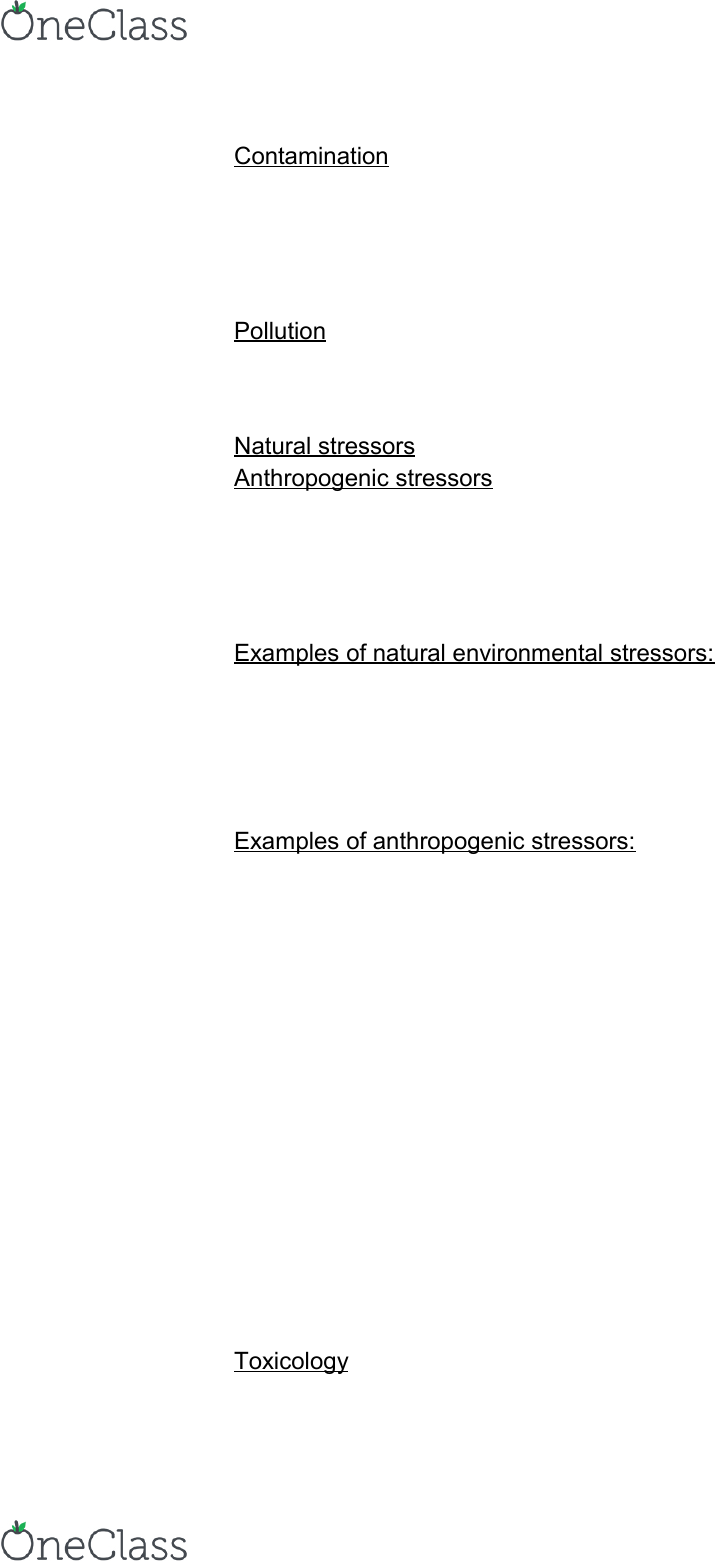 Environmental Science 1021F/G Lecture Notes - Fall 2012