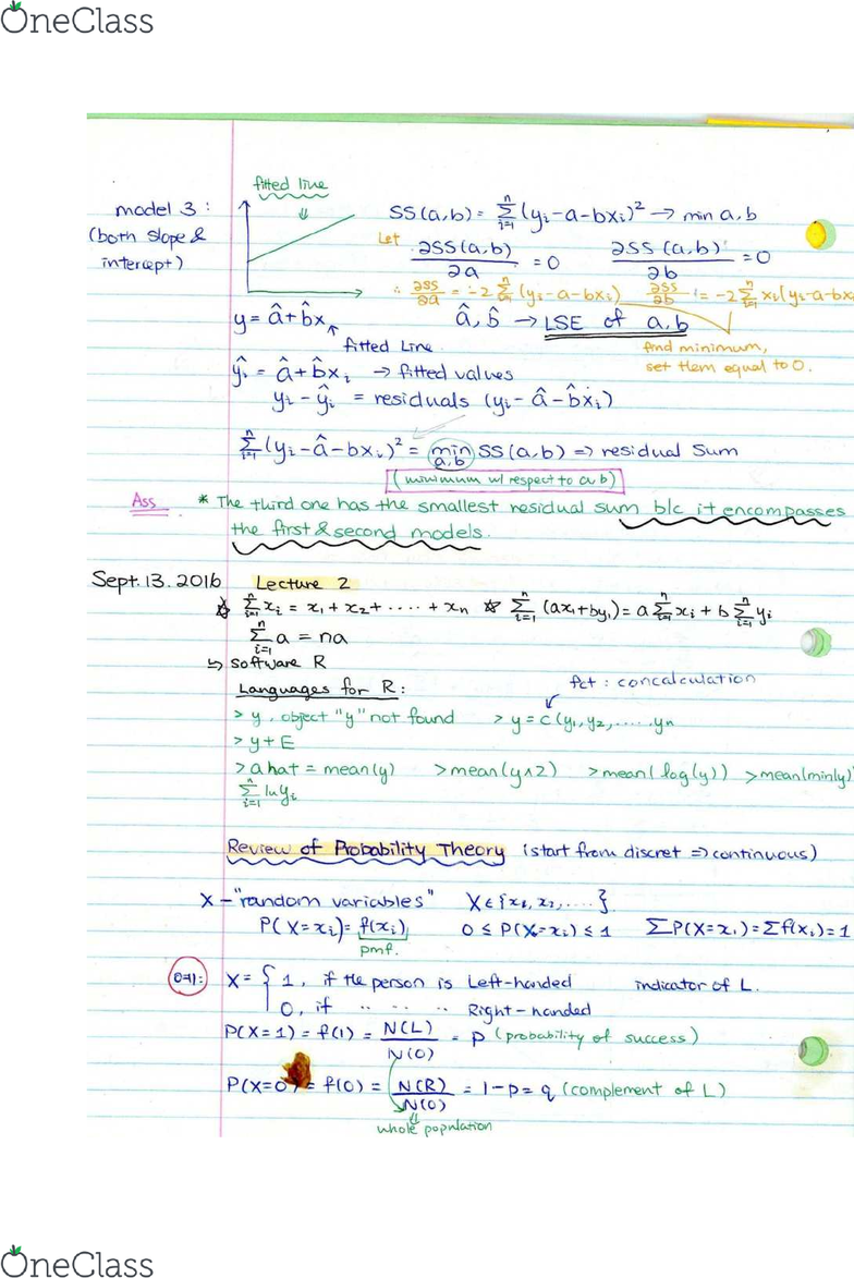 Stat 361 Midterm Exam Guide Comprehensive Notes For The Exam 94 P Oneclass