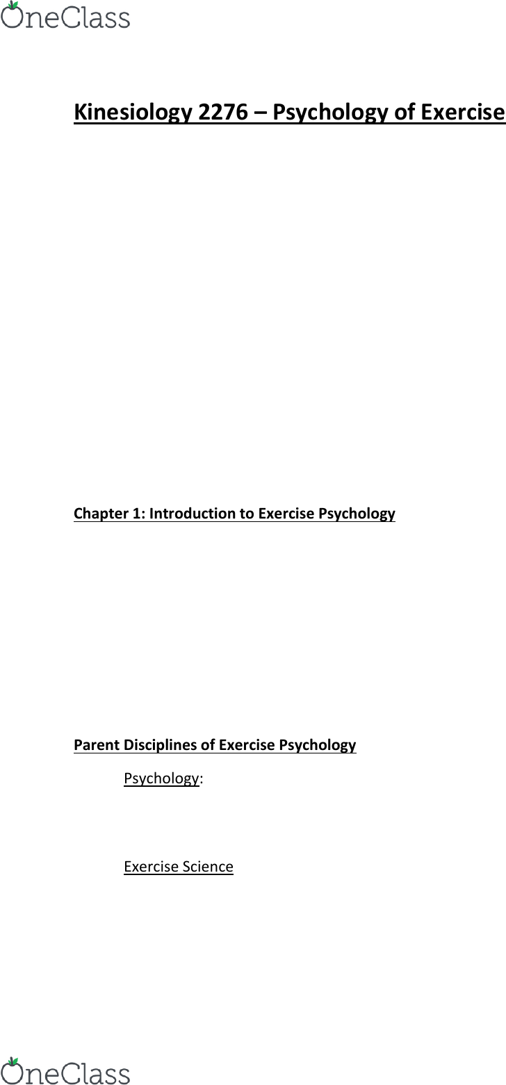 Kinesiology 2276F/G Study Guide - Final Guide: Smoking Cessation