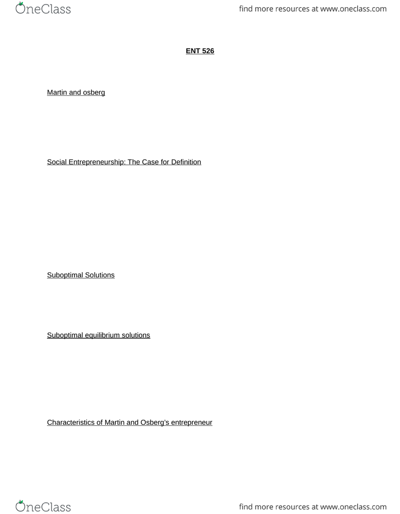 ENT 526 Study Guide - Fall 2014, Final - Investment