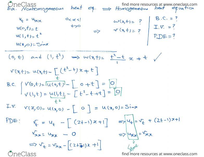 MATH 300 Lecture 5: (Week 5) (Non)homogeneous Dirichlet, Neumann