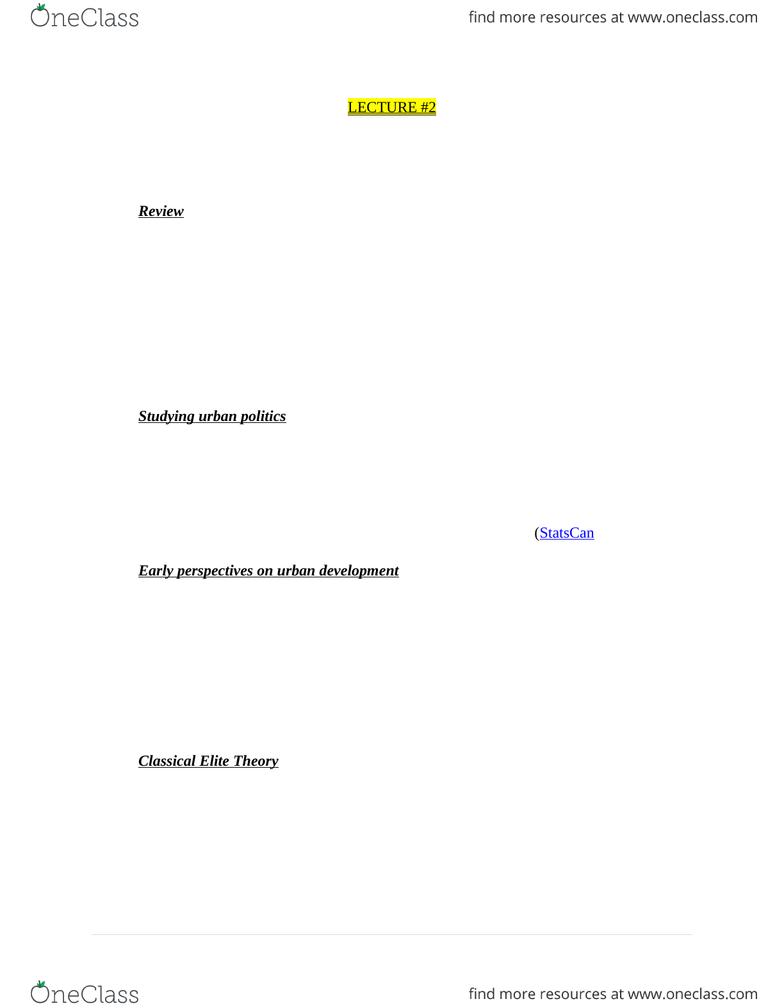 CITB04H3 Lecture Notes - Lecture 2: Davidoff, Citb, International Tropical  Timber Organization