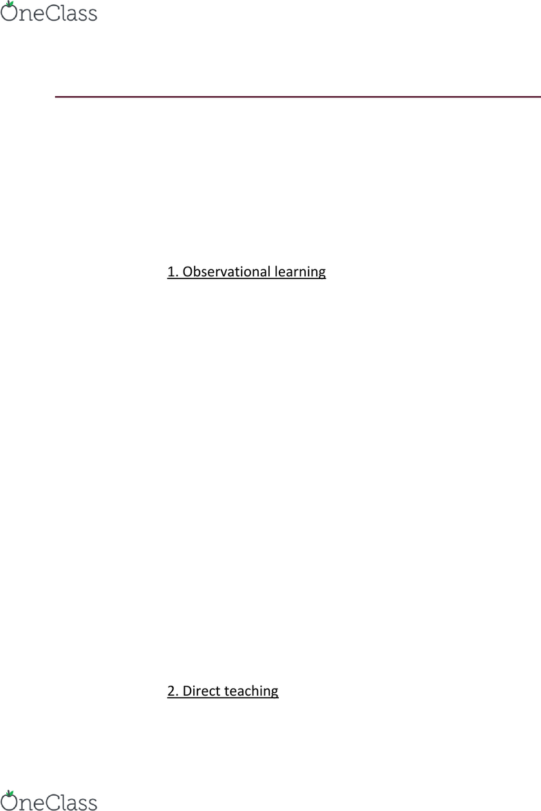 PSYCH 2410 Lecture Notes - Spring 2016, Lecture 21