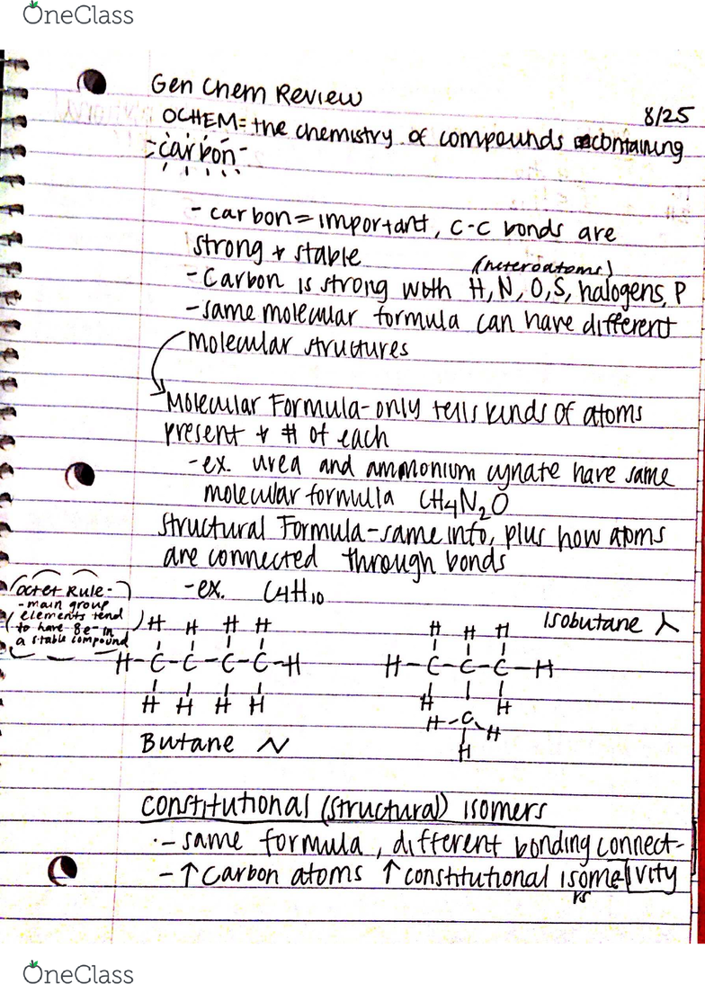 CH 320M Lecture 1: General Chemistry Review (Lewis