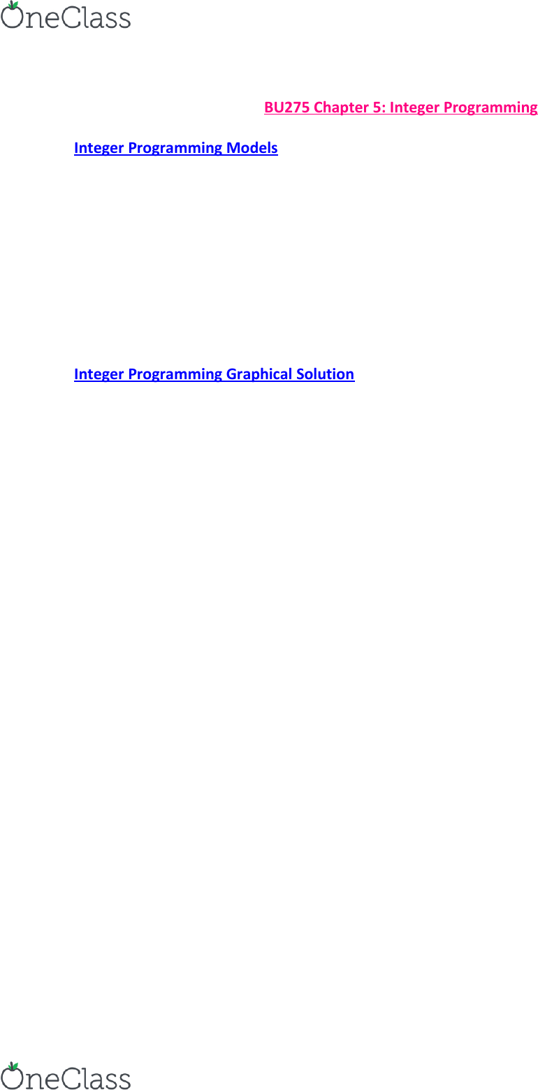 BU275 Textbook Notes - Winter 2015, Chapter 5 - Set Cover Problem