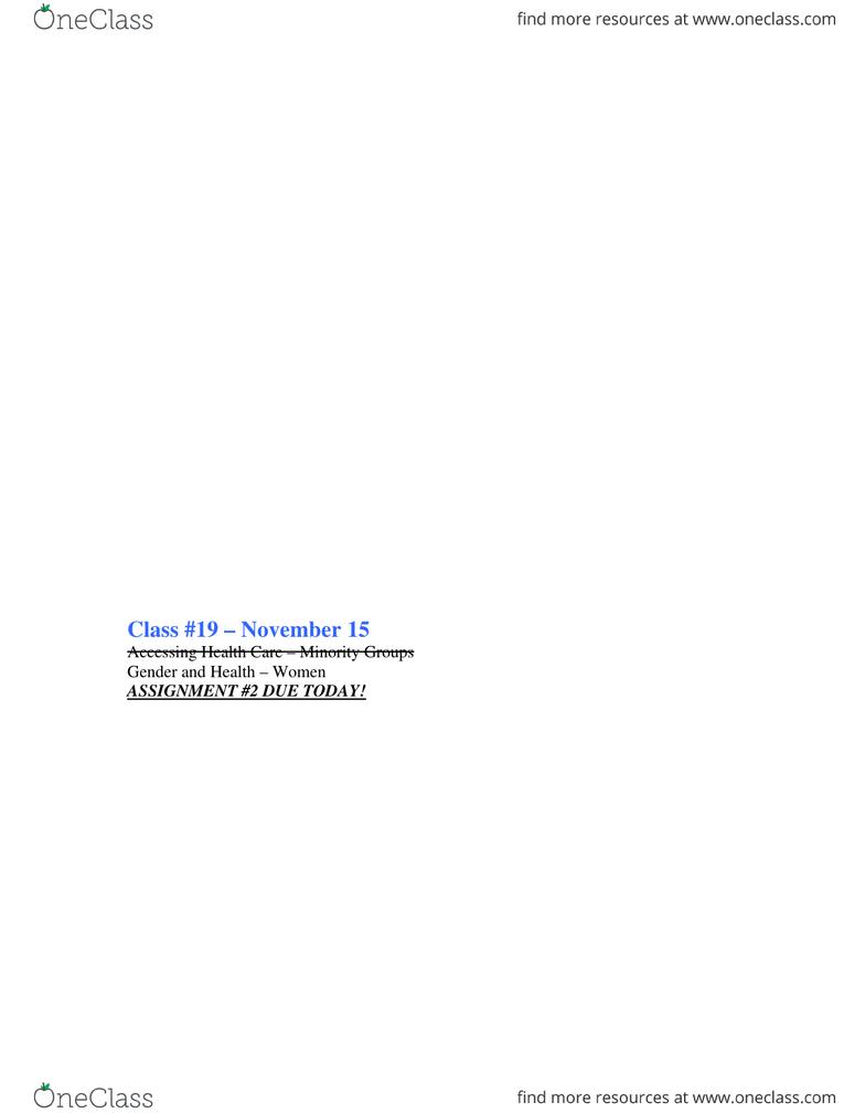 SOC2101 Class Notes - Final Exam  doc - OneClass