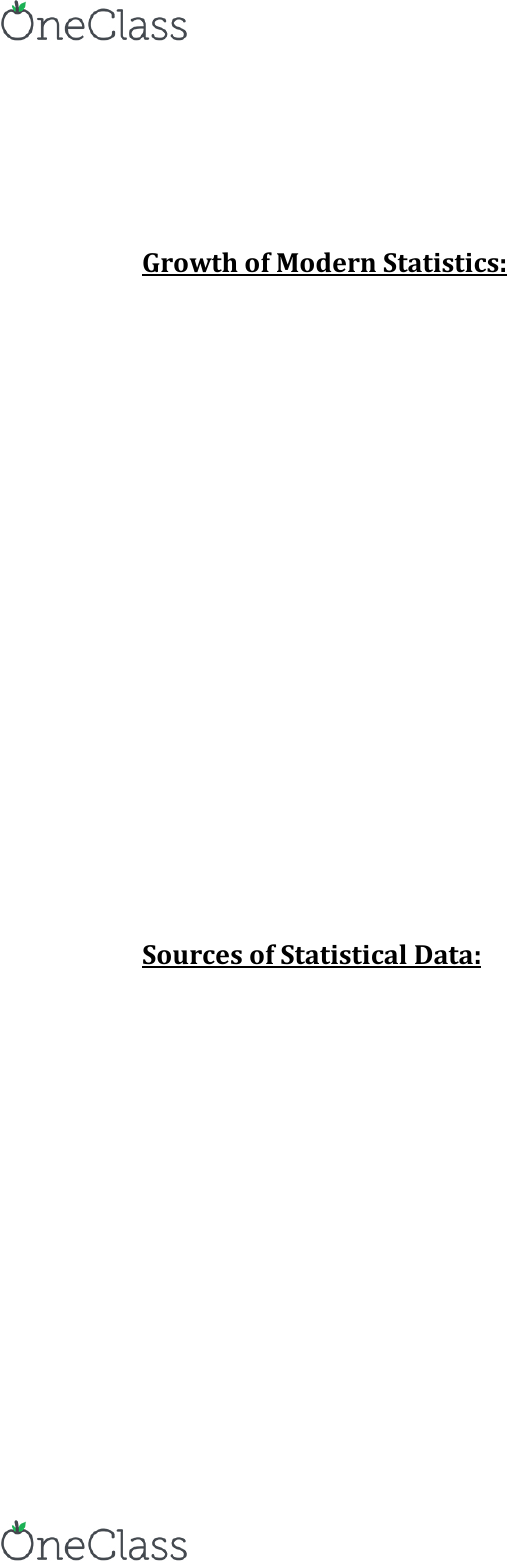 STAT 263 Textbook Notes - Summer 2017, Chapter 1 - Topaz