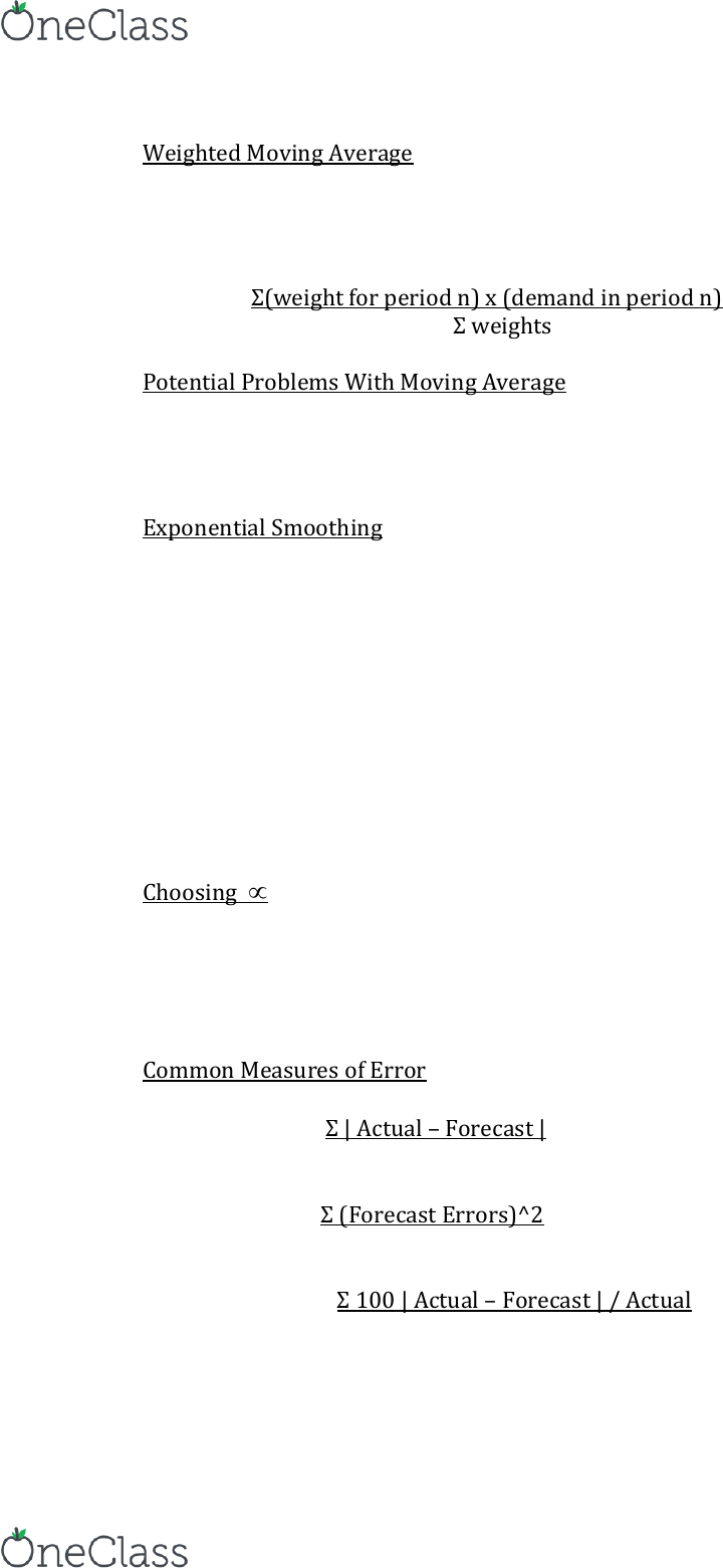OM 300 Lecture Notes - Summer 2015, Lecture 4 - Moving