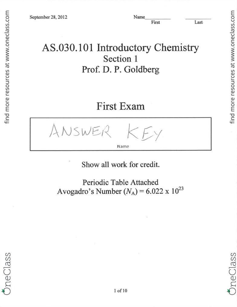 030 102 Study Guide - Fall 2012, Final - Sulfuric Acid, Sulfur