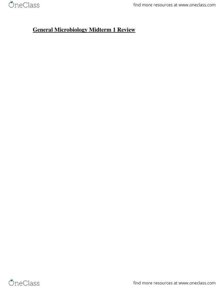 BIO 3124 Study Guide - Midterm Guide: Microbiology, Autotroph, Galactose