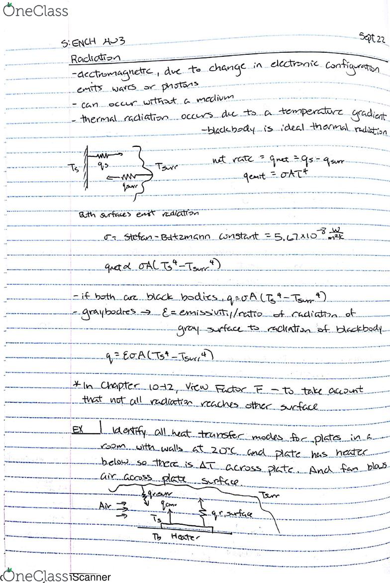 ENCH 403 Lecture 2: ENCH 403 Conduction, Convection