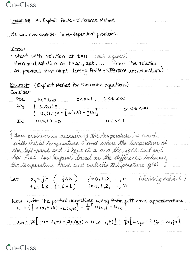 MATH 3434 Lecture Notes - Winter 2016, Lecture 12 - Boundary Value