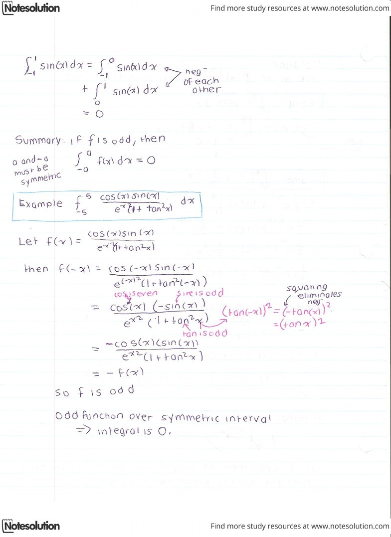 April 5 - Fundamental Theorem of Calculus Part 2 and