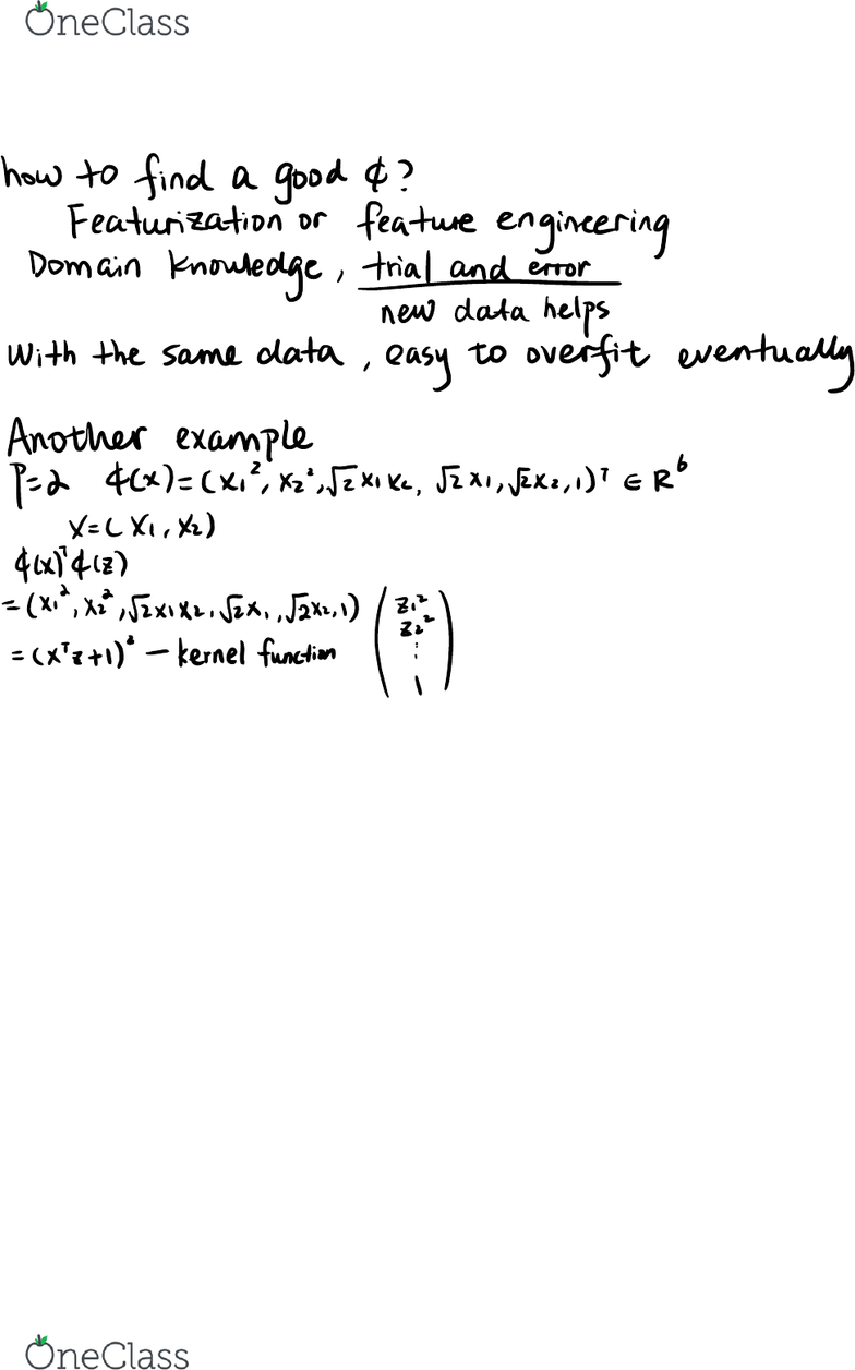 STAT 154 Lecture Notes - Fall 2018, Lecture 16 - Kernel