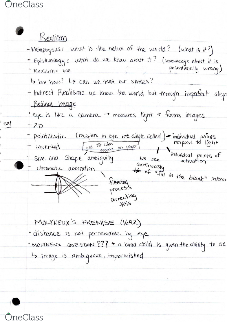 EXP 3304 Lecture 1: Realism and Unconscious Inference