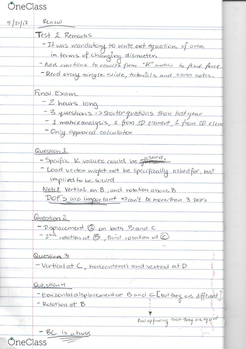 CIV4234 Lecture 11: Lecture - OneClass
