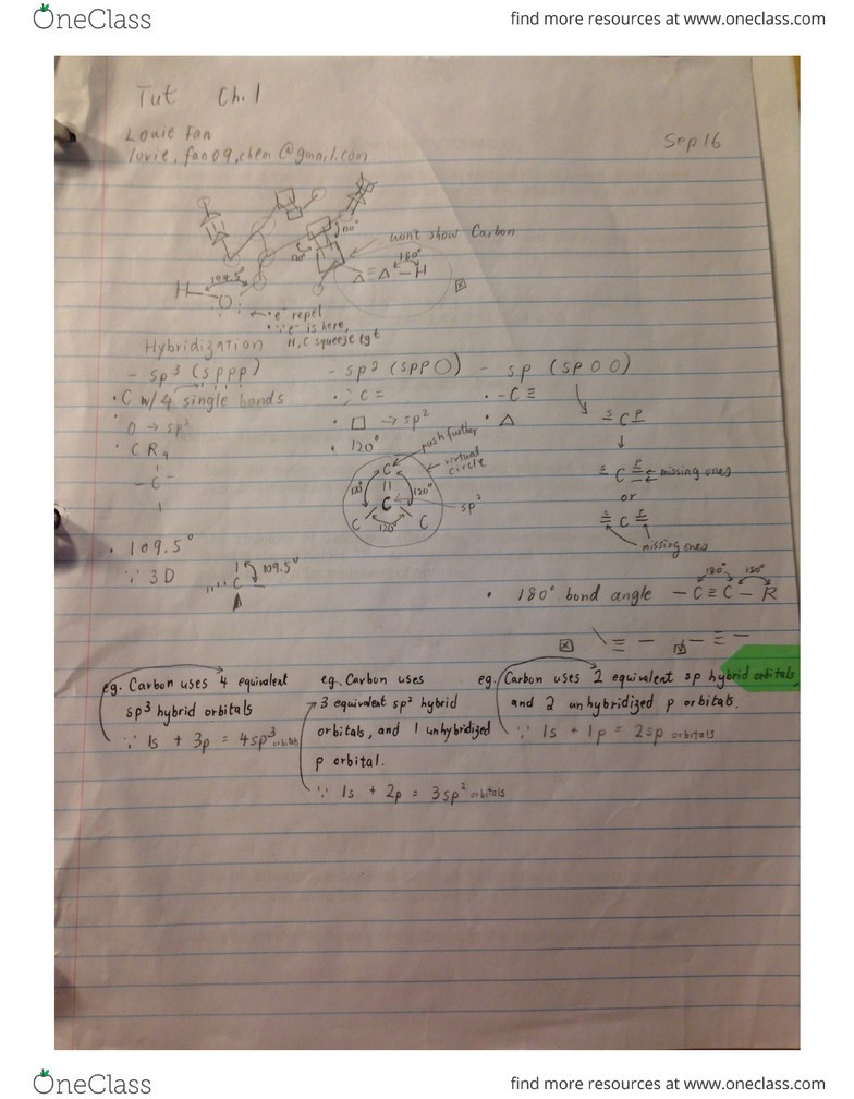 CHM138H1 Final: CHM138 tutorial notes pdf - OneClass