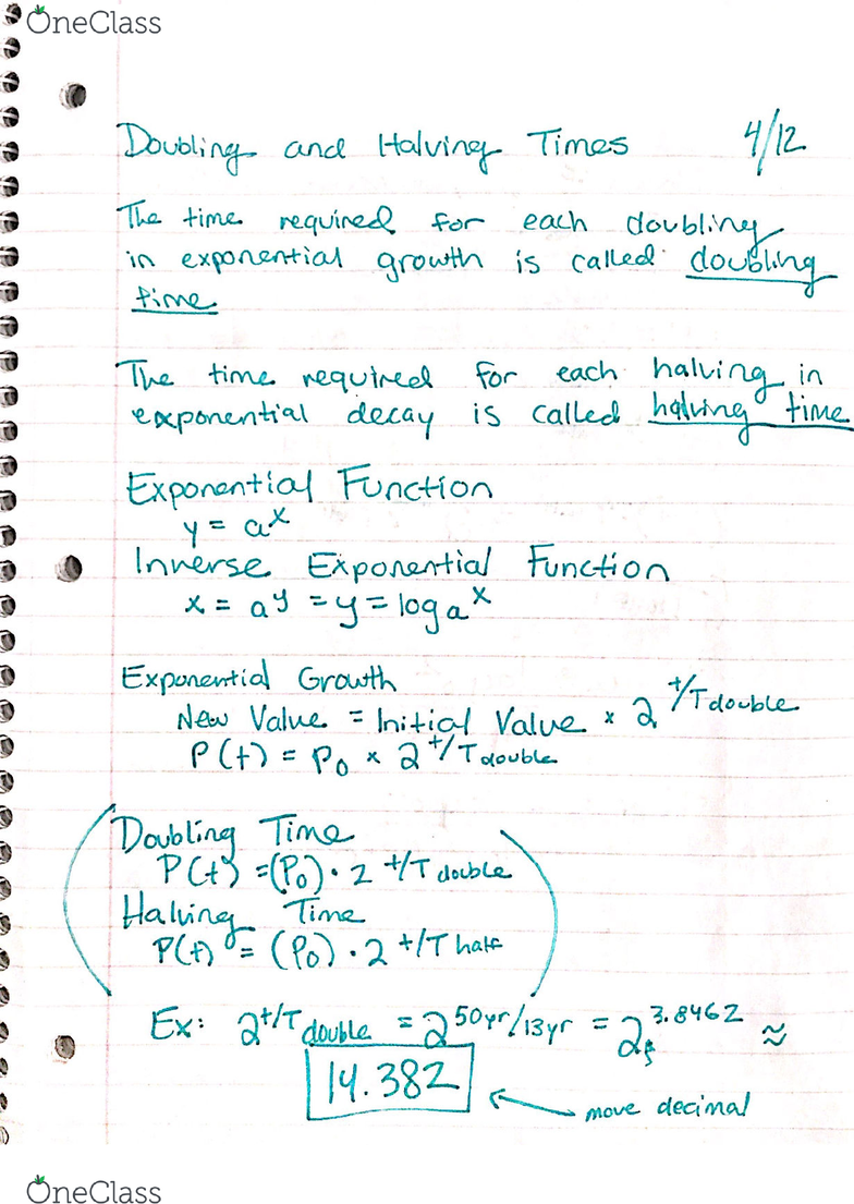 MATH 1012 Lecture 18: Math Notes 3/30