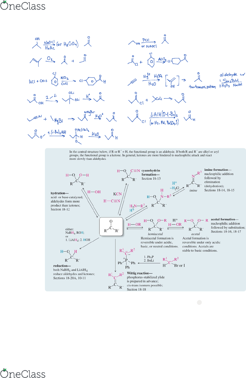 CHEM 334 Lecture 3: Chapter 18 and 20 notes - Organic Chemistry