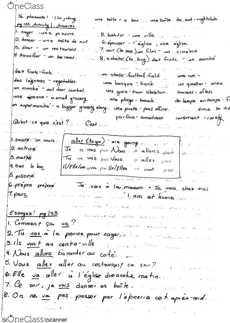 Www Un Temps Pour Elles Com french 1ab lecture 11: the verb aller - oneclass